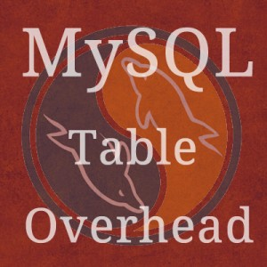 Post image for MySQL Table Overhead