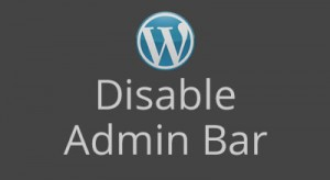 Post image for Disable Admin Bar in WordPress
