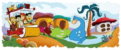 Google Doodle on 50th Aniversary of The Flintstones
