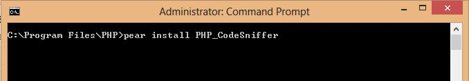 Install PHP CodeSniffer